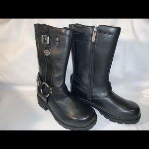 Harley-Davidson black leather boots women size 6.5